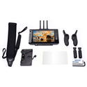 Small HD MON-703BOLT-GM 7-Inch Full HD Monitor/Receiver with Directors Handles and Gold Mount Battery Plate