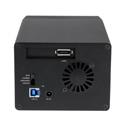 StarTech S3520BU33ER USB 3.0/eSATA Dual 3.5 Inch SATA III Hard Drive External RAID Enclosure w/ UASP & Fan - Black