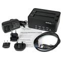 StarTech SATDOCK2REU3 USB 3.0 SATA Hard Drive Duplicator & Eraser Dock - Standalone 2.5/3.5in HDD & SSD Eraser & Cloner