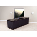 StudioTech U-22T-RB Wide Audio / Video Cabinet - Rosewood/Black Fabric