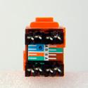 ADC-Commscope 2111475-5 T568A/T568B Category 6 RJ45 Jack Orange