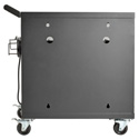 Tripp Lite CSC32USB 32-Device USB Charging Station Cart with Sync for iPad and Android Tabs - Wall-Mount Option - Black