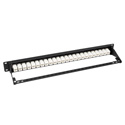 Tripp Lite N254-024-6A 24-Port 1U Rackmount Cat6a Feedthrough Patch Panel RJ45 Ethernet