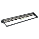 Tripp Lite N254-024-SH-6A 24-Port 1U Rackmount STP Shielded Cat6a Feedthrough Patch Panel RJ45 Ethernet