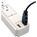 Tripp Lite TLP606USB 6-Outlet Surge Suppressor- 6-Ft Cord & 2 Port USB Charger