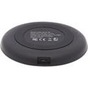 Tripp Lite U280-Q01FL-BK Wireless Phone Charger - 10W / Qi Certified - Apple and Samsung Compatible - Black