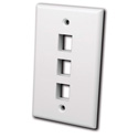 Vanco 820101 Keystone Wall plate 1 port White