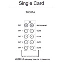 Ward-Beck T6301A Single Card 10 BNC Rear Module