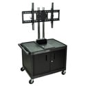 H. Wilson WPTV28C2E Mobile Cabinet Cart w/Universal 37-60-Inch LCD TV Mount