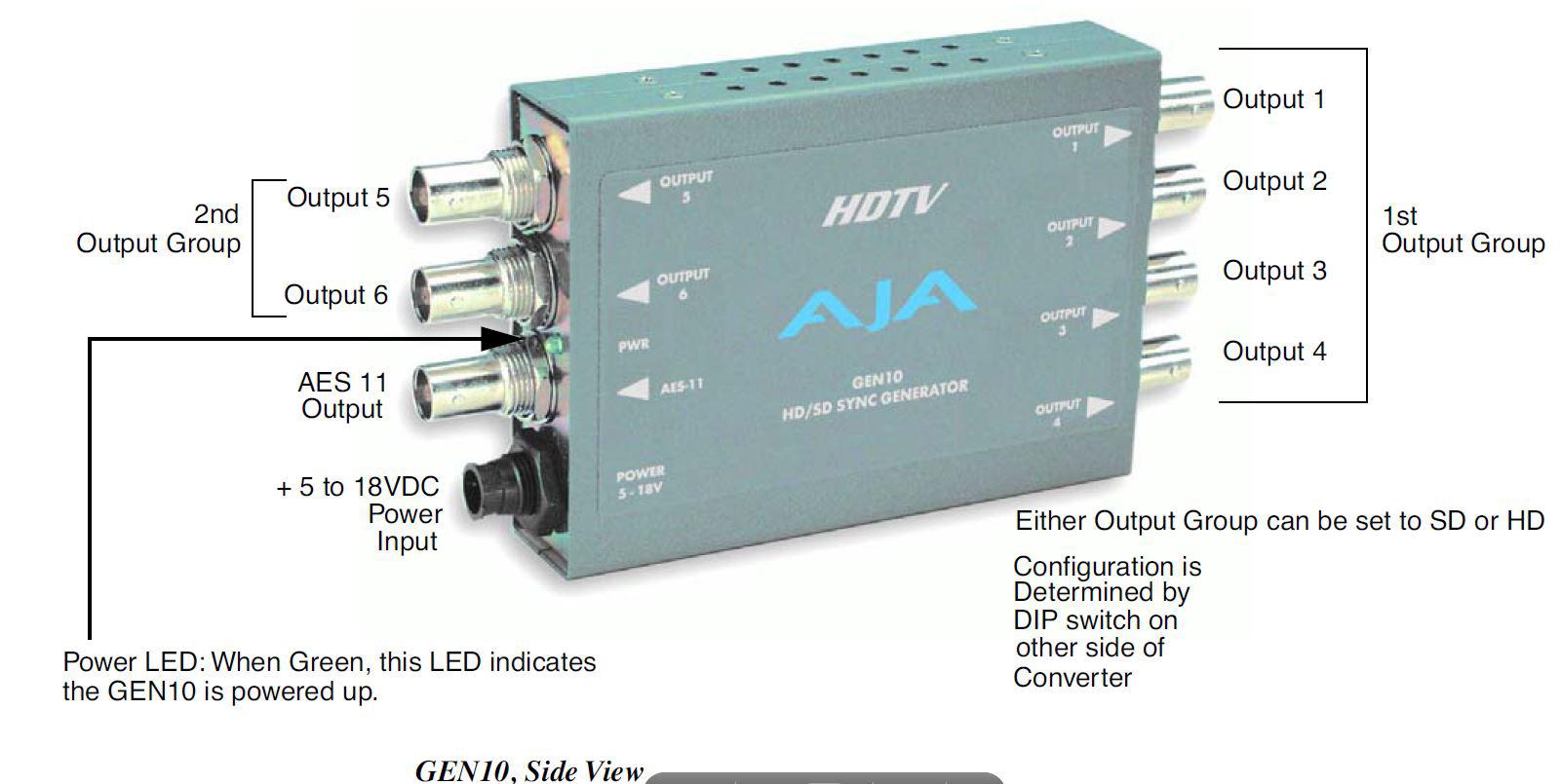 Aja Gen10 Hd Sd Sync Generator10 Blackburst Tri Level Generator Genlock Wiring Diagram