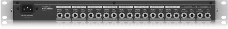 behringer powerplay pro 8 ha8000 v2 8 ch high power headphones distribution amp. Black Bedroom Furniture Sets. Home Design Ideas