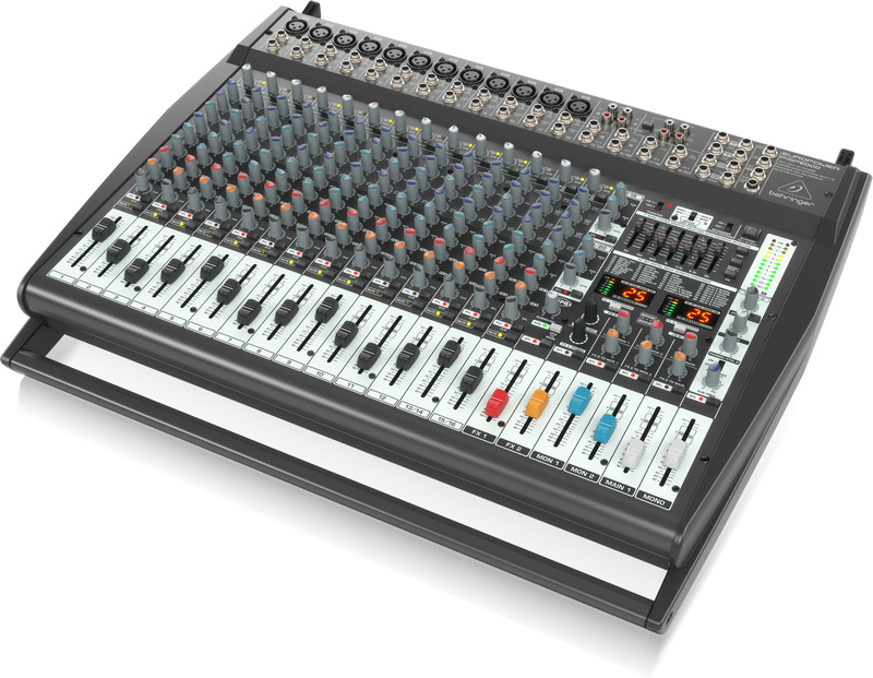 behringer europower pmp6000 1600w 20 channel powered mixer w fx fbq. Black Bedroom Furniture Sets. Home Design Ideas