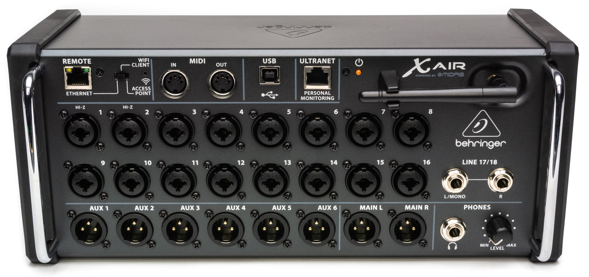 behringer x air xr18 18 channel 12 bus rackmount digital mixer for ipad android tablets b. Black Bedroom Furniture Sets. Home Design Ideas