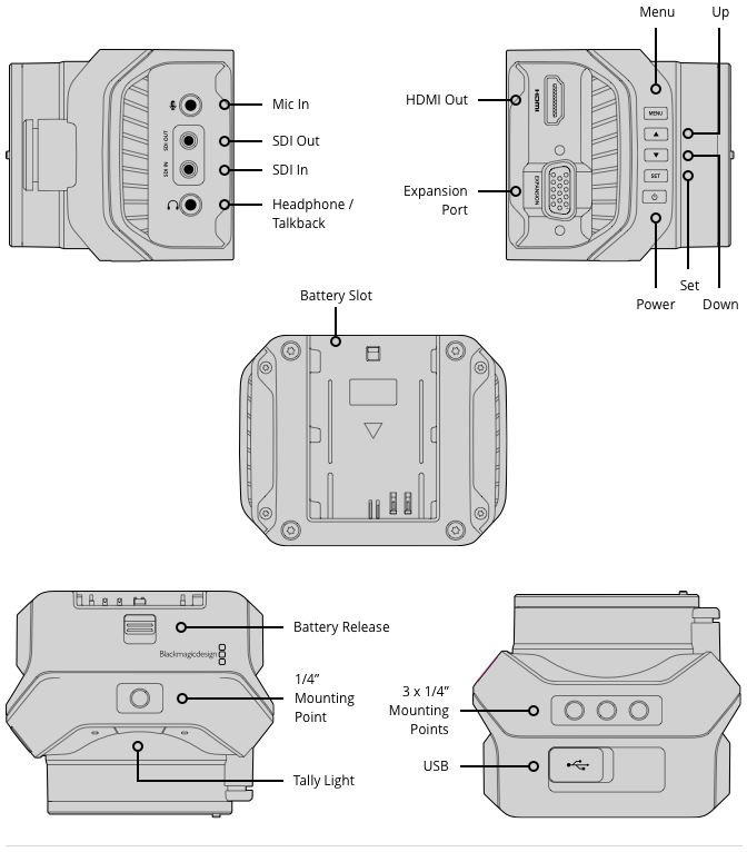 Blackmagic BMD-CINSTUDMFT/UHD/MR Micro Studio Camera 4K
