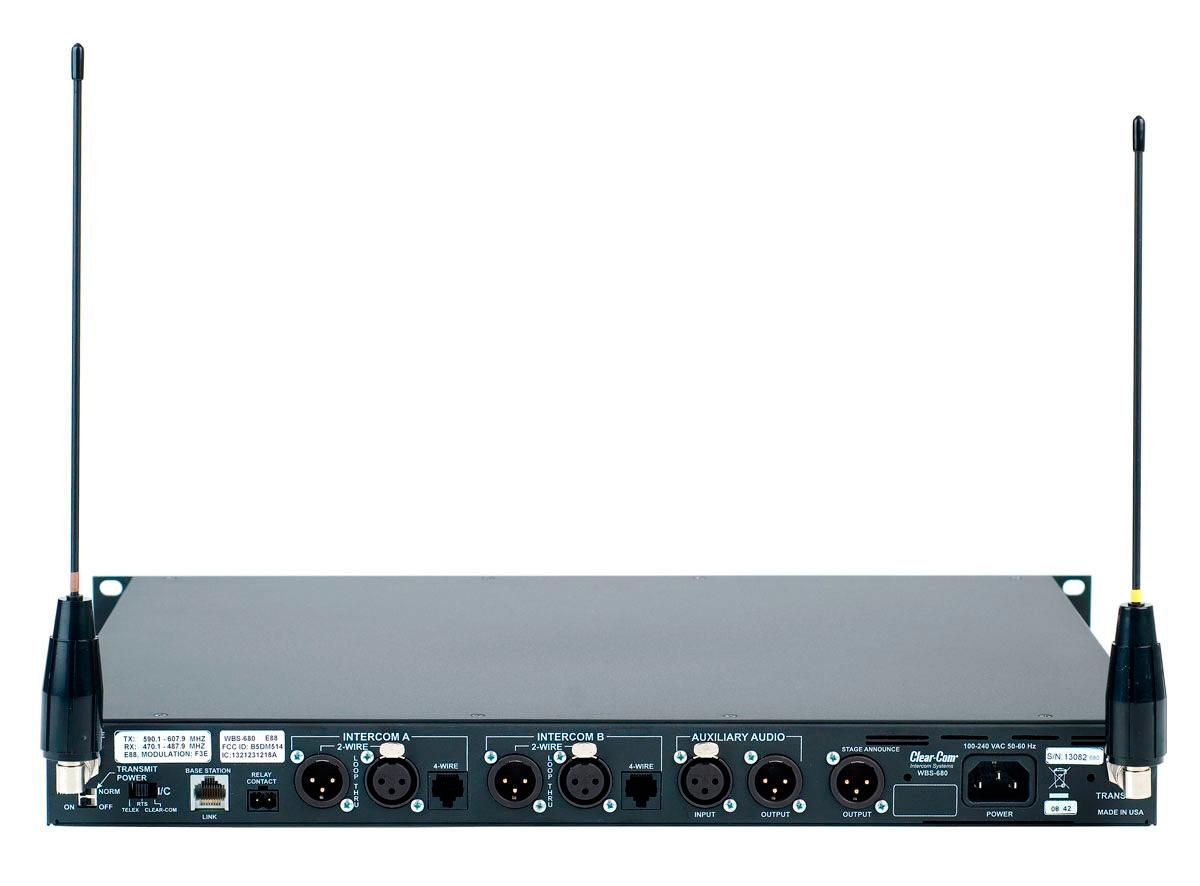 Clear-Com WBS-680-A2 2 Ch. Wireless UHF Base Station - Band A2
