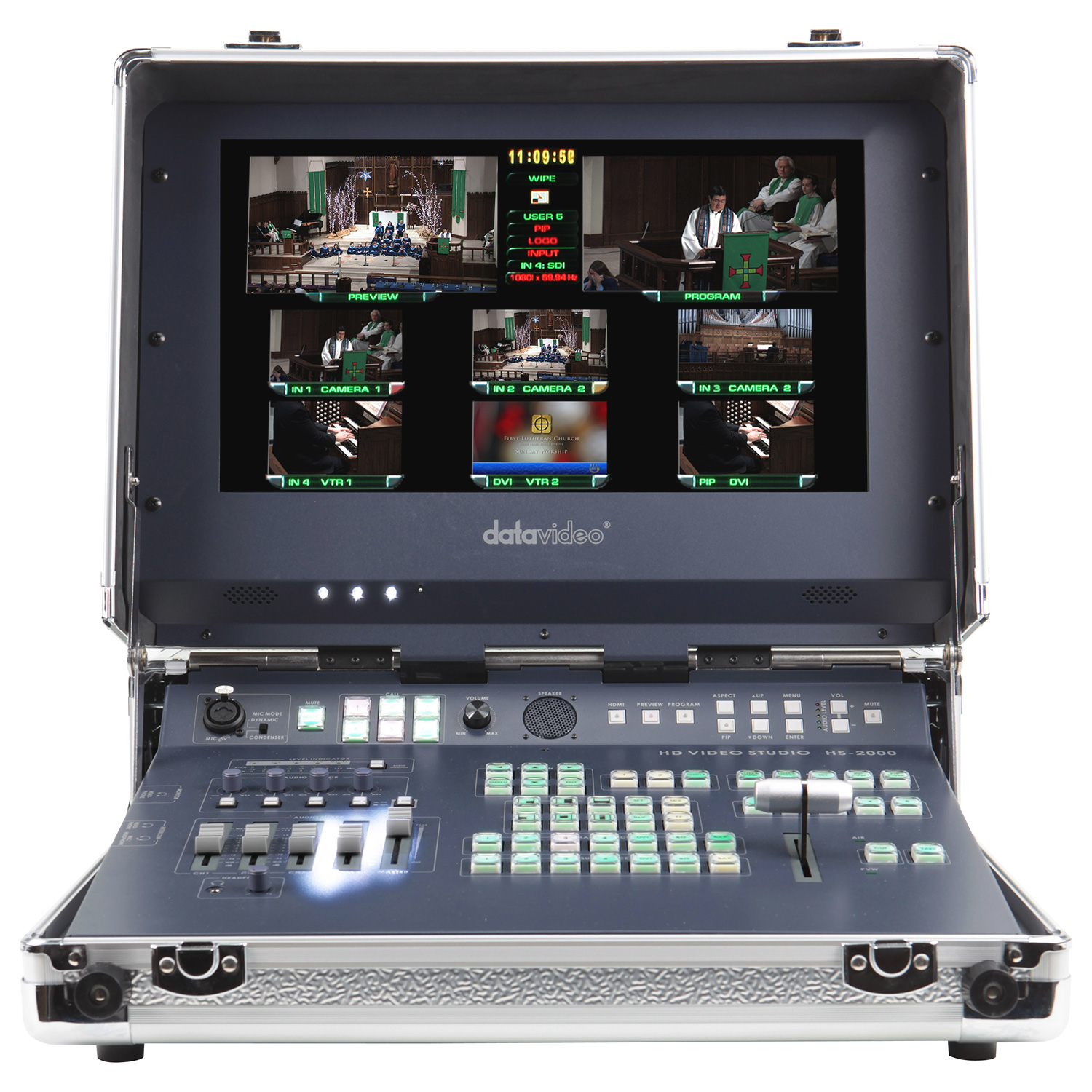 Datavideo hs 2000 five input hd hand carried mobile studio for Mobile studio