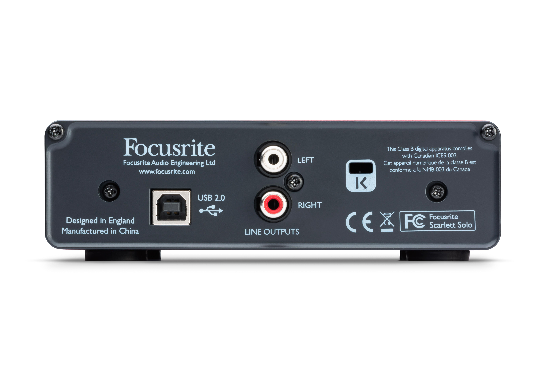 focusrite scarlett solo compact usb audio interface w preamp. Black Bedroom Furniture Sets. Home Design Ideas