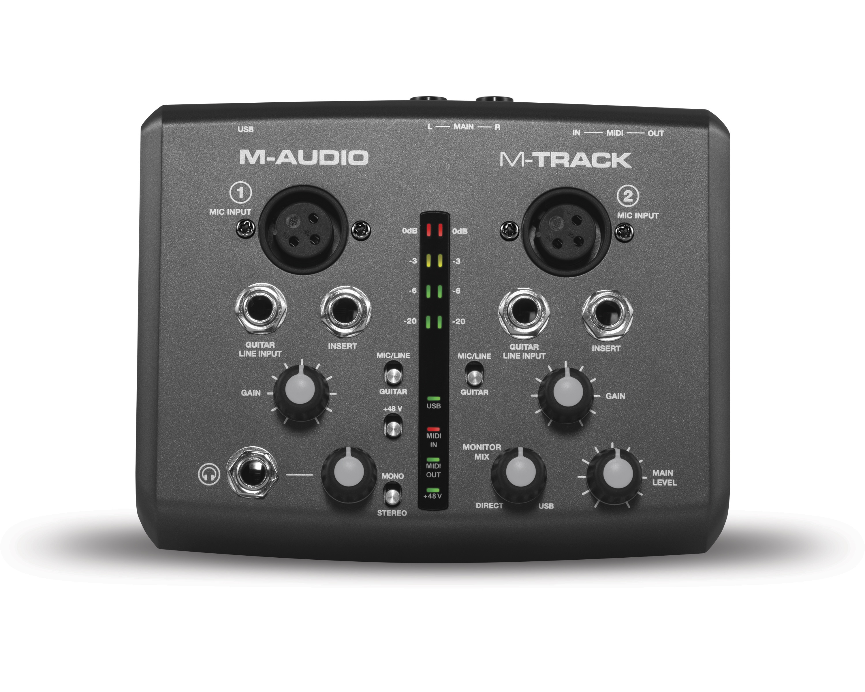 m audio m track two channel usb audio midi interface. Black Bedroom Furniture Sets. Home Design Ideas