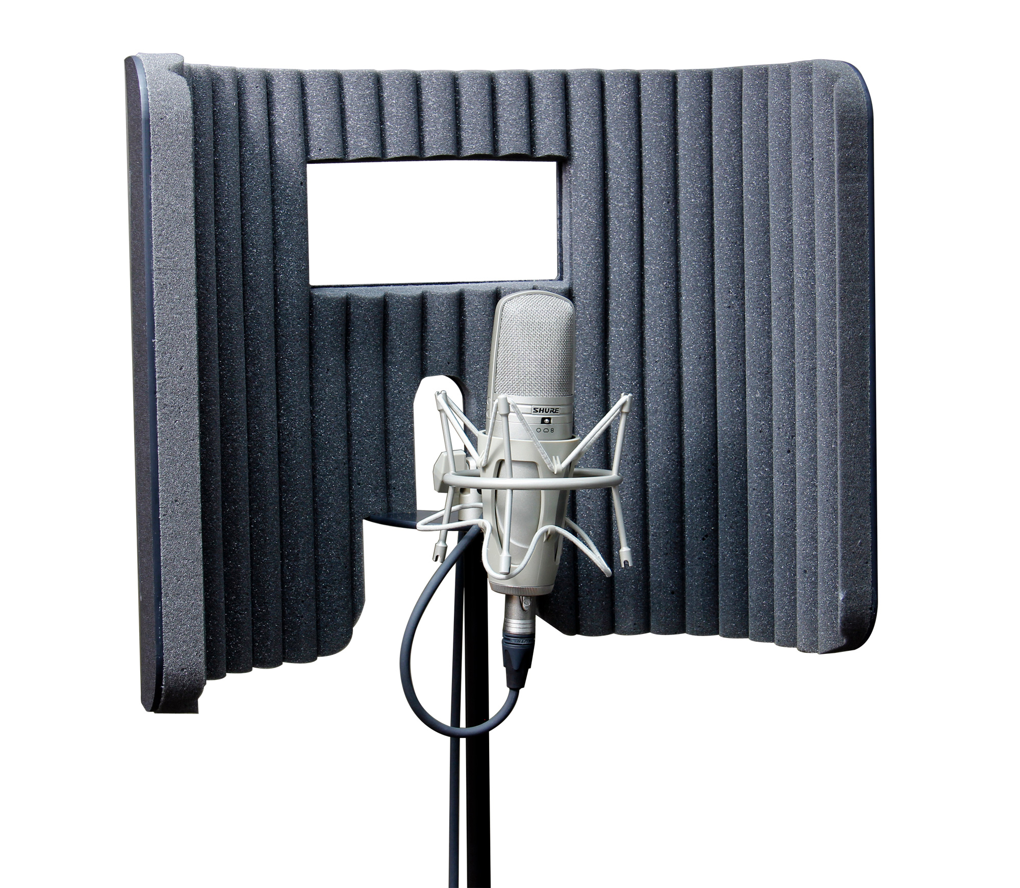 primacoustic voxguard vu nearfield absorber mic stand sound booth. Black Bedroom Furniture Sets. Home Design Ideas