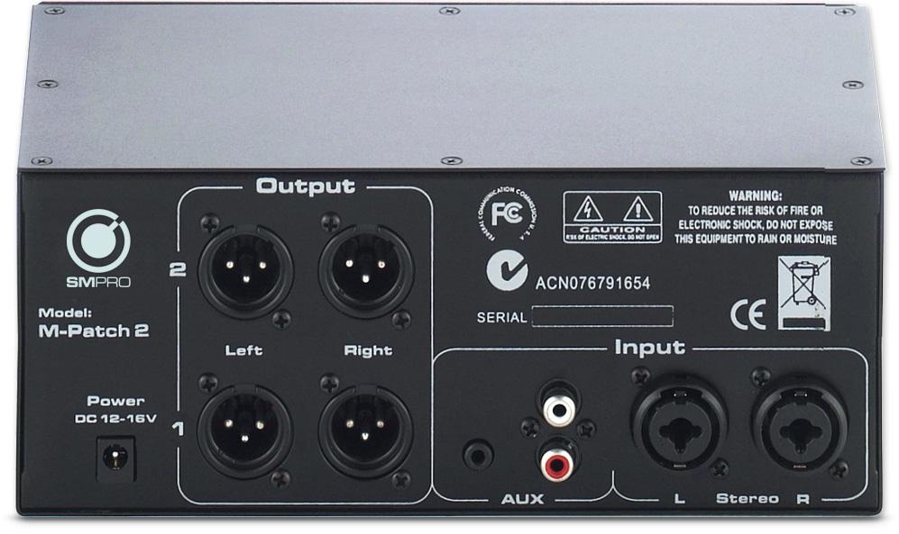 Sm Pro Audio M Patch 2 Passive Volume Control Switch Box