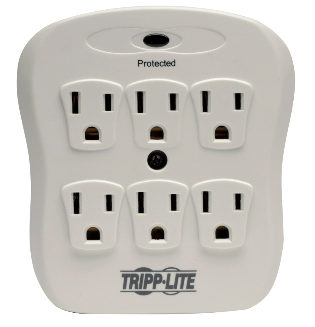 Tripp Lite SK6-0/SPIKEBLOK Surge Protector Wallmount Direct Plug In ...