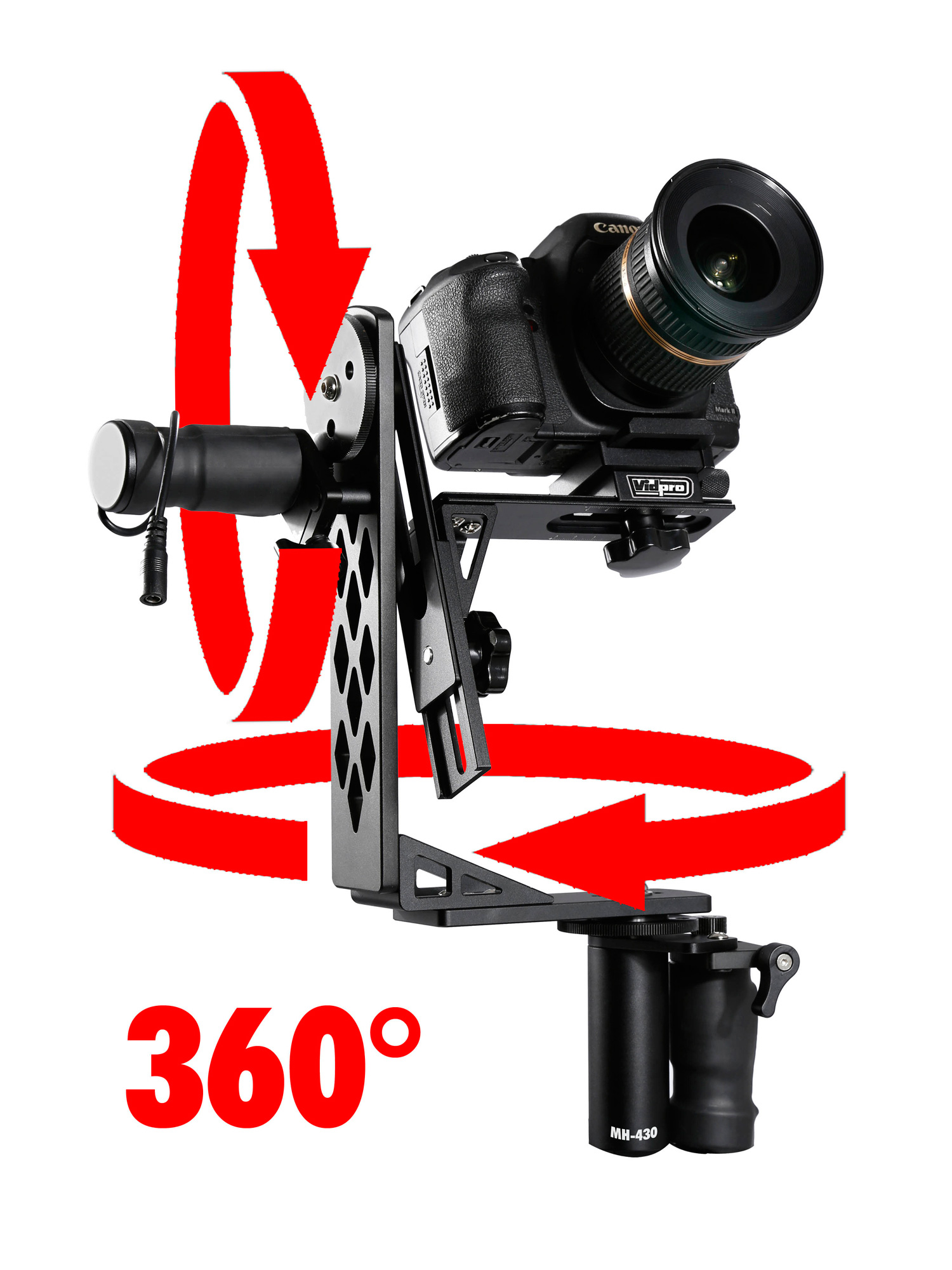 vidpro md 430 pro moterized pan and tilt gimbal head