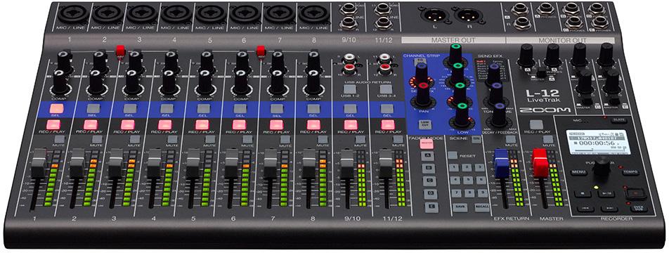 Zoom L 12 Livetrak 12 Channel Digital Mixer Amp Multitrack