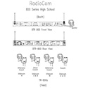 Telex RadioCom BTR-800-H1 Base Station RTS A4M Headset Jack H1 BAND