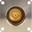 Canare CCF4-JKR Tri-K Pro Female Triax Panel Mount