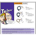 Telex CMT-2 Standard Earset System Cord 5ft with 1/4in Straight Connector