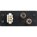 Camplex HYMOD-1R05 SMPTE FXW Plug to 2 ST Fiber & 6-Pin AMP for 1RU HYMOD Systems