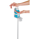 K&M 80310-000-76 Hand Sanitizer/Disinfectant Stand with Bracket - Pure White
