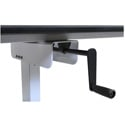 Luxor STANDUP-SC40-WB 40 Inch Single Column Crank Stand Up Desk