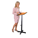 Oklahoma Sound Height Adjustable Portable Lectern - Medium Oak