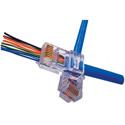 Platinum Tools 202015J EZ-RJ45 CAT5e Connectors (50) & EZ-RJ45 Cat5e Strain Relief (50)