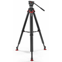 Sachtler 1017MS System Ace XL with Flowtech 75 Carbon Fiber Tripod with Rubber Feet and Mid-Level Spreader