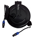 Stage Ninja SPK-40-QI 46 ft Retractable Speaker Cable Reel With 1/4 Inch Connectors