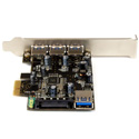StarTech PEXUSB3S42 4Port PCIe USB 3.0 Adapter Card - 1 Int & 3 Ext
