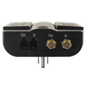 Tripp Lite HTSWIVEL6 Home Theater Surge Wallmount Direct Plug Swivel RJ11 Coax