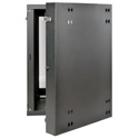 Tripp Lite 18U Wall-Mount Rack Enclosure Cabinet with Clear Acrylic Window Double Hinge Removable Side Panels 36x24x26