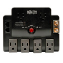 Tripp Lite TLP606RNET 6-Outlet Surge Suppressor- 6-Ft Cord & 1-Line Coaxial