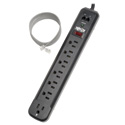 Tripp Lite TLP76RBTEL Surge Protector Strip 120V Right Angle 7 Outlet RJ11 Black