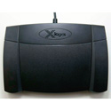 X-Keys XK-3 USB Foot Pedal (Rear Hinged) for Windows or Mac