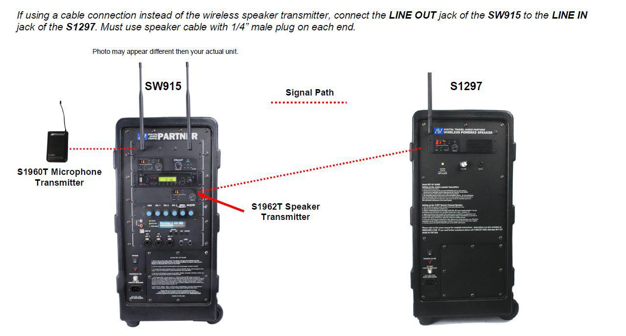 Amplivox S1297-70 Wireless Powered Companion Speaker for Digital ...