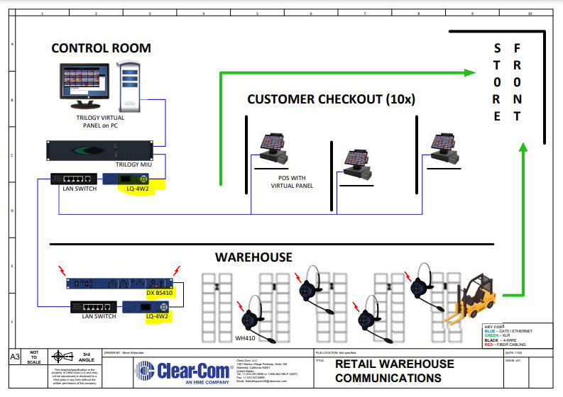 CLCM LQ 4W2 clear com lq 4w2 1 2 rack unit 2 channel 4 wire ip communications Basic Electrical Wiring Diagrams at bayanpartner.co