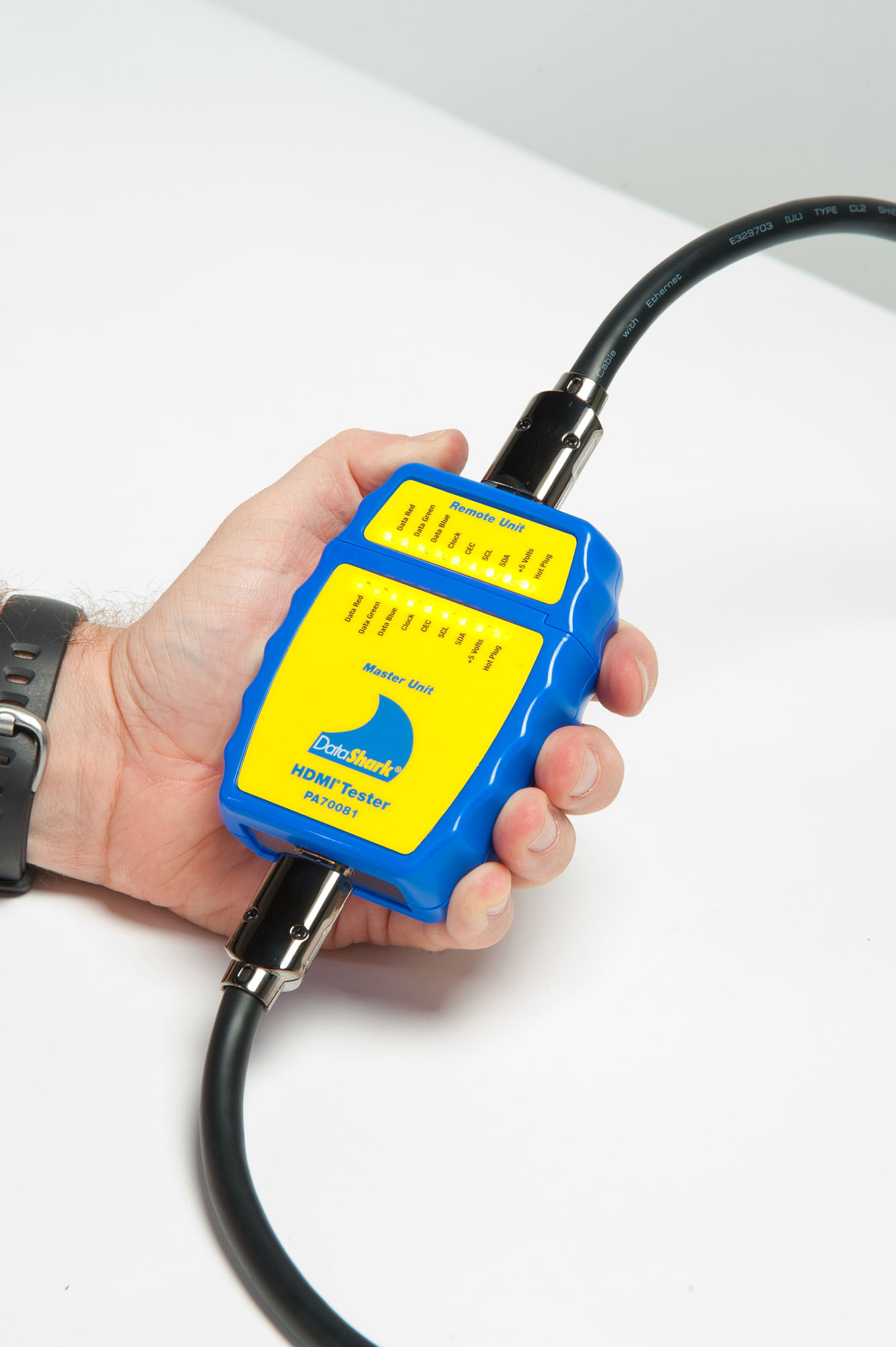 Data Cable Tester : Greenlee pa data shark hdmi cable tester
