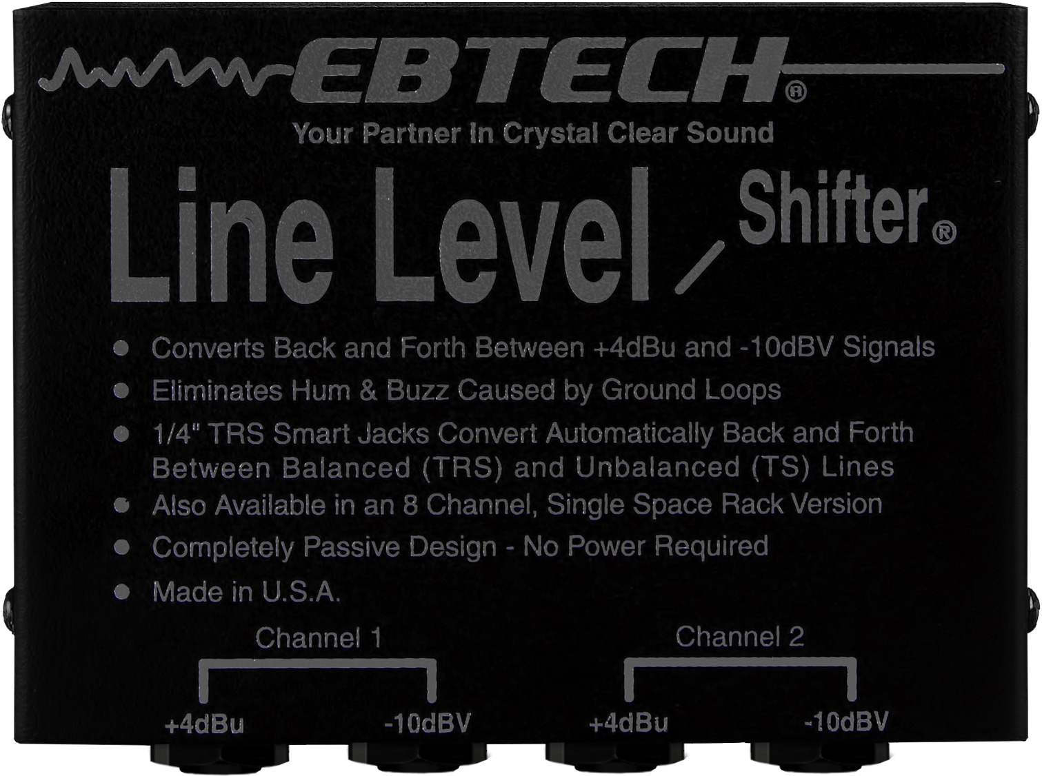 Better Way To Achieve Level Convertion Is Use A Shifter Or Ebtech Lls 2 Channel Line With 1 4in Smart Jacks Zoom