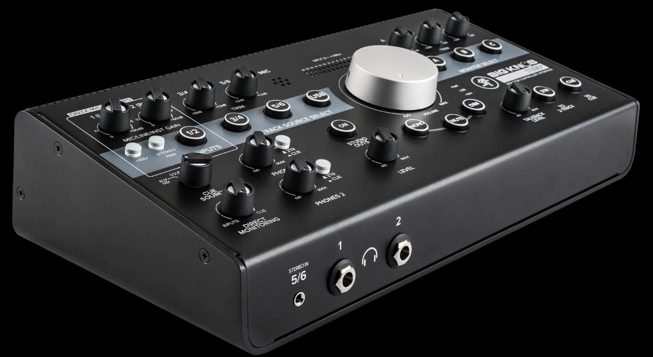mackie big knob series studio 2x4 studio monitor controller usb interface. Black Bedroom Furniture Sets. Home Design Ideas