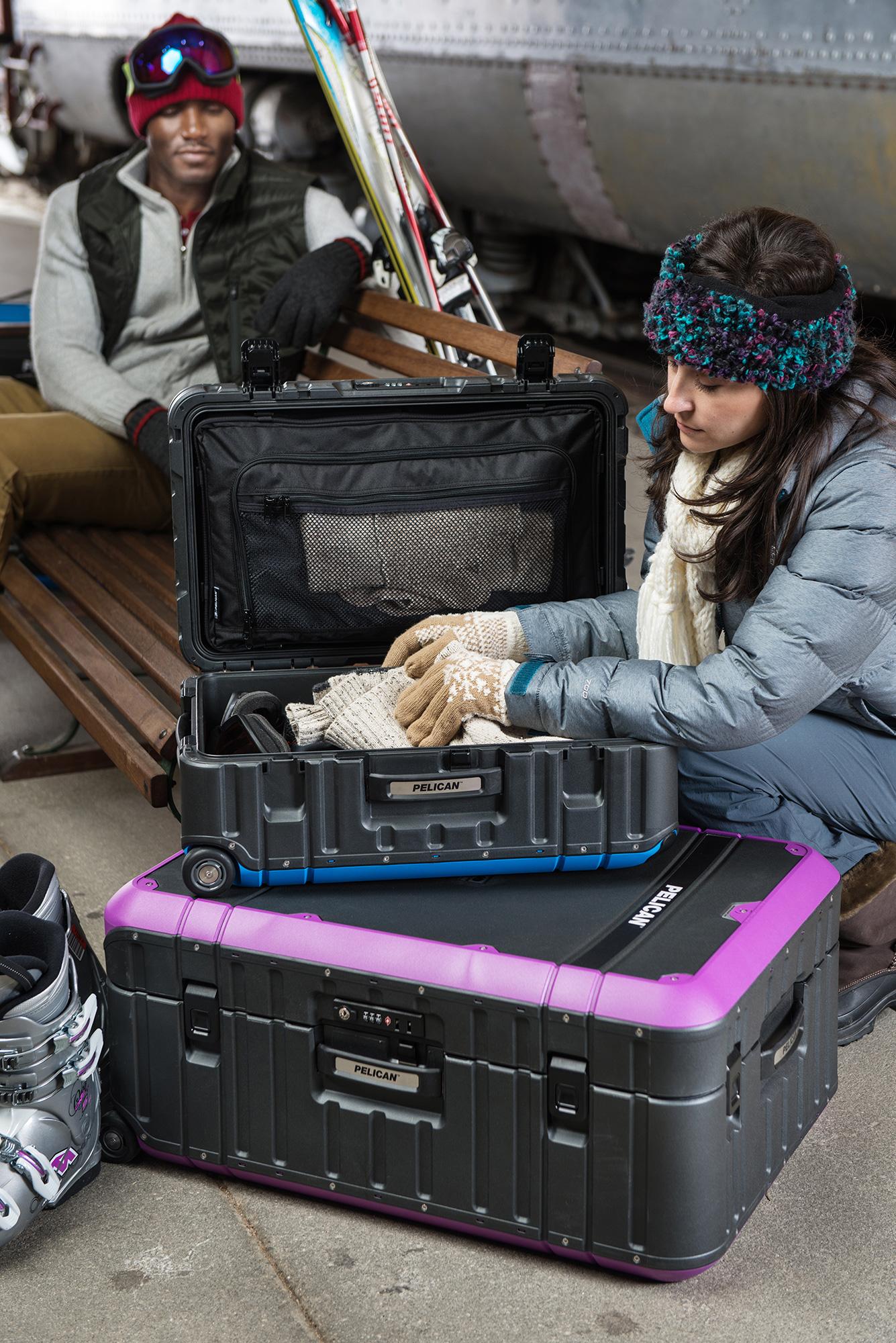 Pelican LG-EL30-GRYPUR 30 Inch Elite Pro Gear Luggage with Enhanced ...
