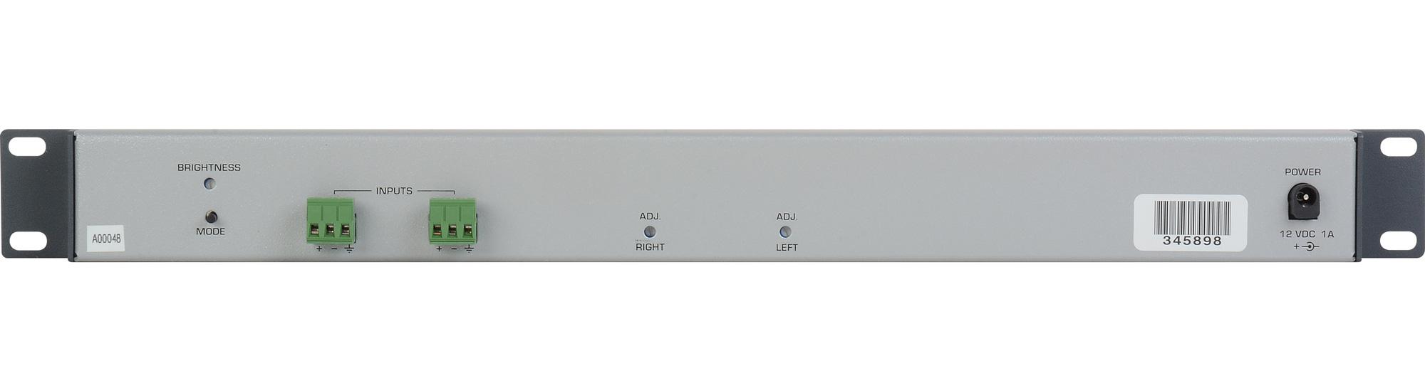 Sescom SES-VUA-1RU Balanced Stereo Analog Audio Reference VU Meter ...